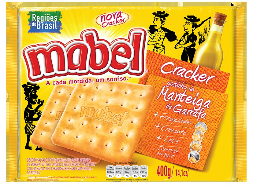 MABEL CRACKER MANTGARRAFA 400GR CX/20