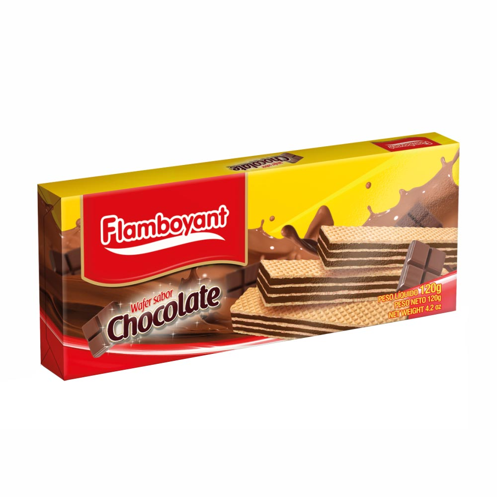 FLAMB BISC WAFER CHOCOLATE 120GRS CX/30