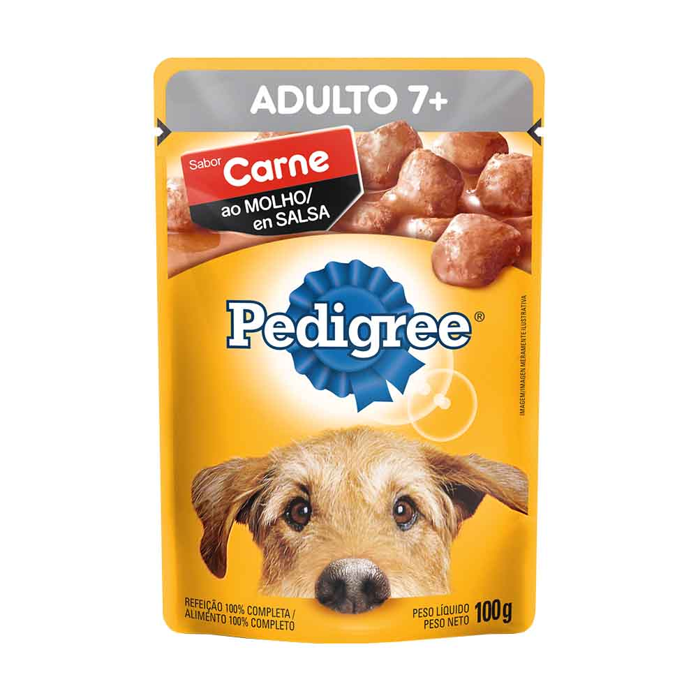 PEDIGREE SACHE ADULTO 7+ DP18/100GR CX/2