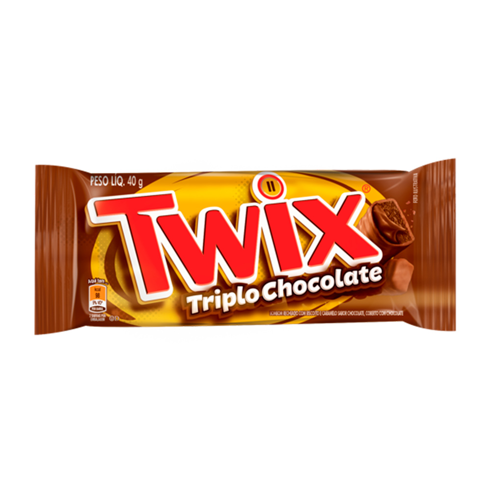 TWIX TRIPLO CHOCOLATE DP 18X40G CX/12