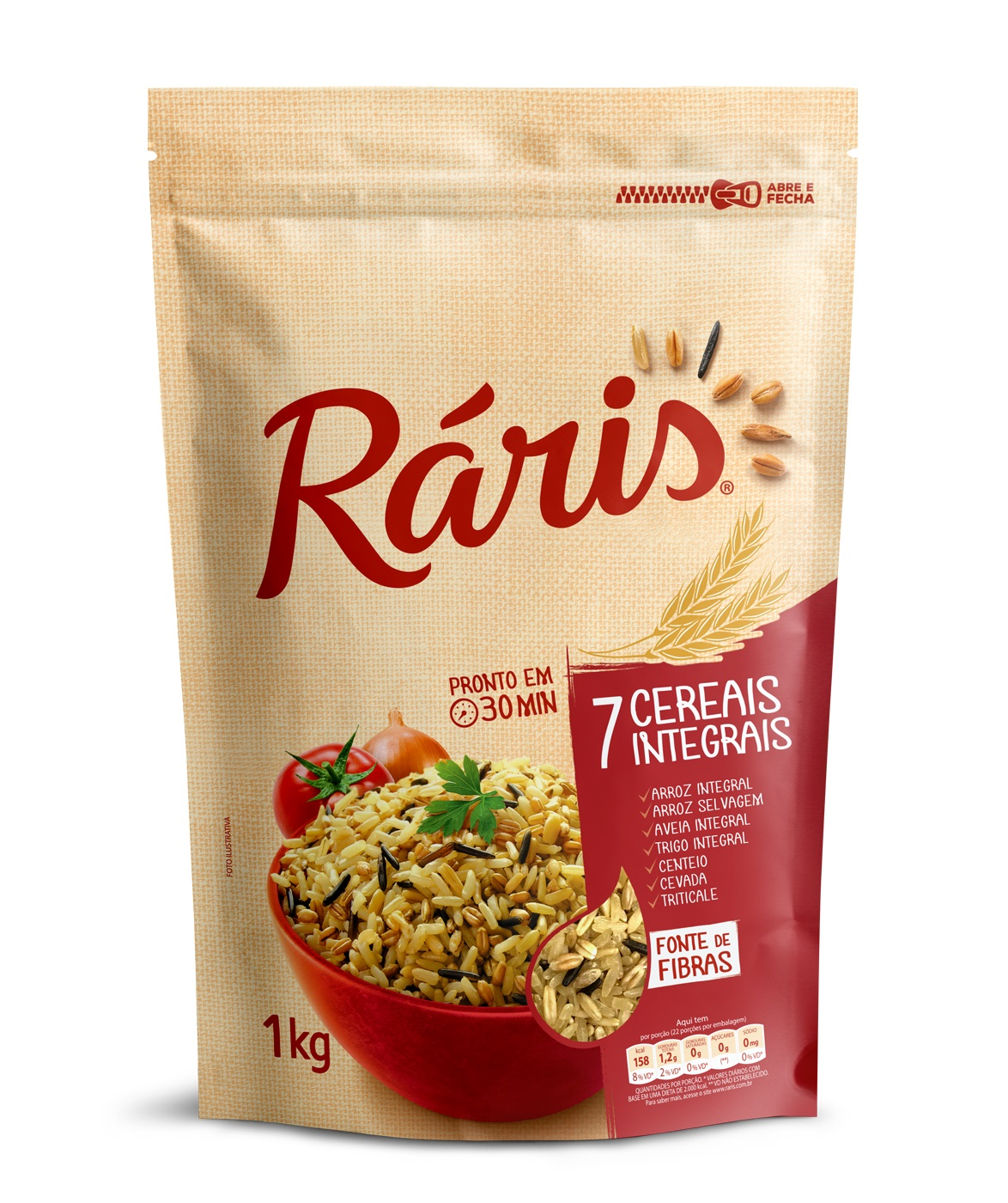 RARIS ARROZ 7 CEREAIS INTEGRAI 1KG CX/12
