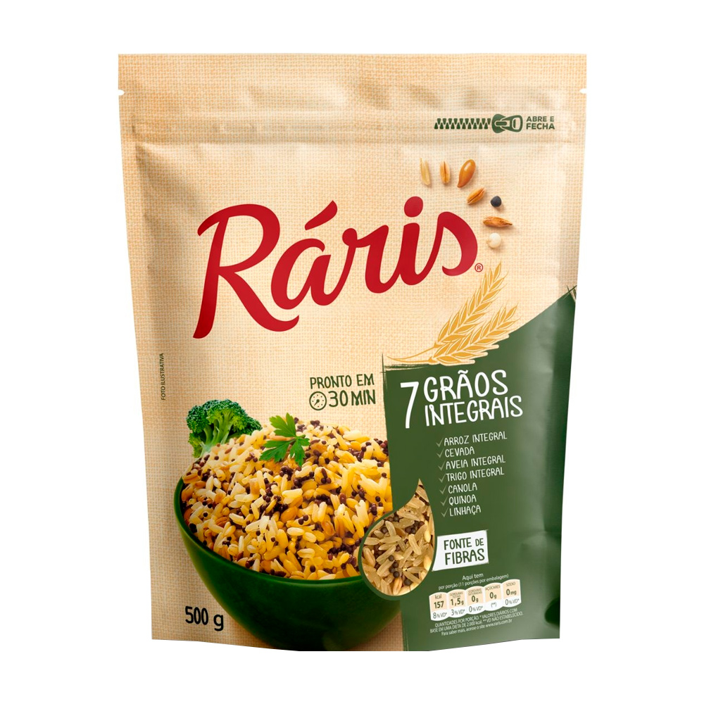 RARIS ARROZ 7 GRAOS INTEGRAIS 500G CX/24