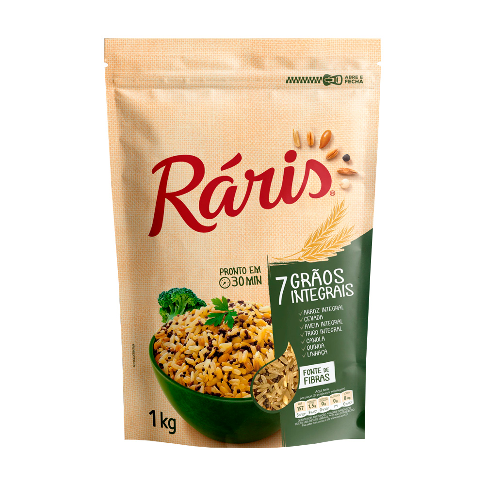 RARIS ARROZ 7 GRAOS INTEGRAIS 1KG CX/12