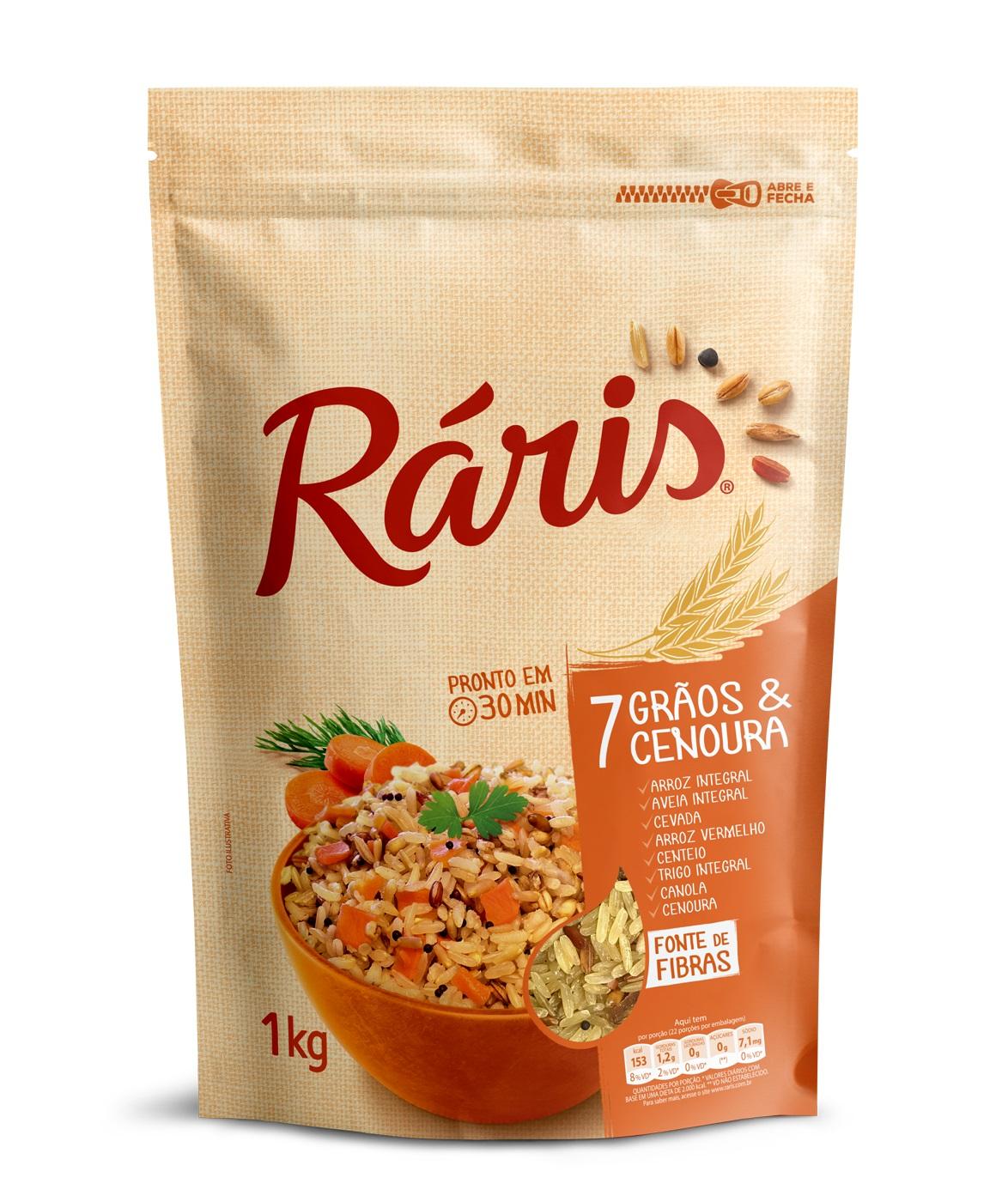 RARIS ARROZ 7 GRAOS & CENOURA 1KG CX/12