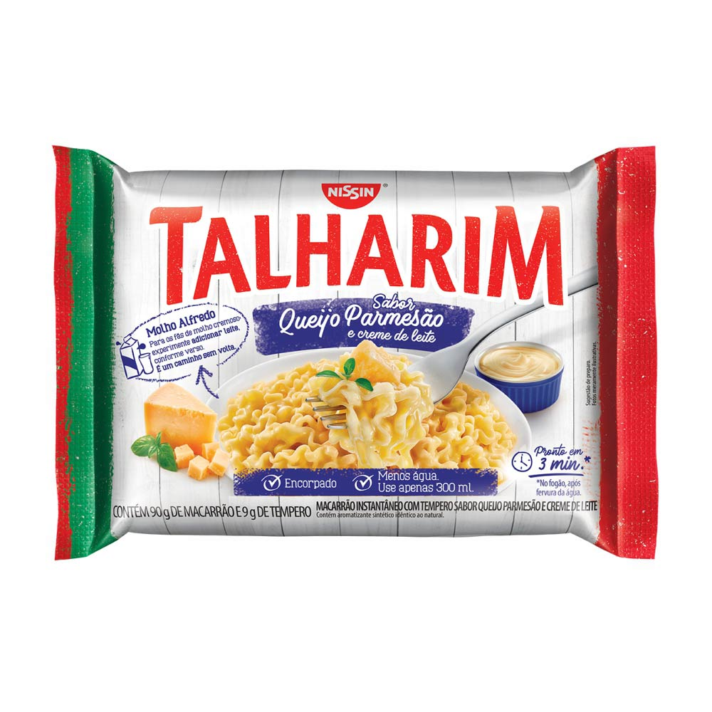 TALHARIN QUEIJO PARM/CRE LEITE 99GRCX/50