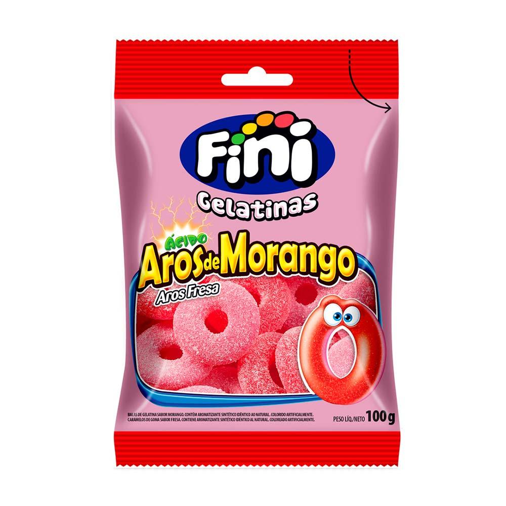 FINI BALA GELAT AROS MORANGO 90GR CX/12