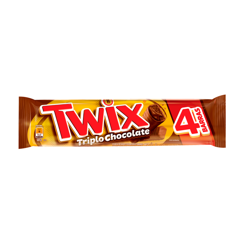 TWIX TRIPLO CHOCOLATE DP24X80G CX/6