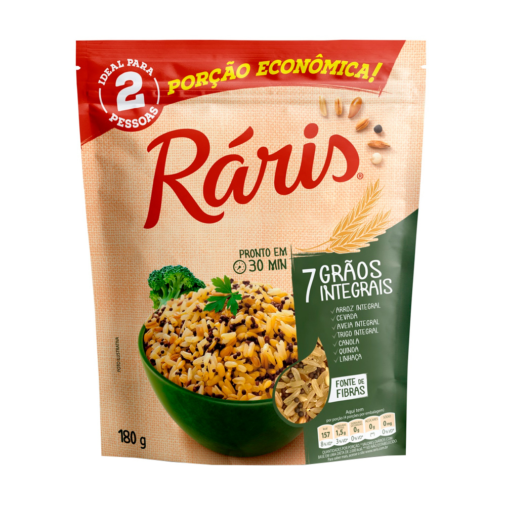 RARIS ARROZ 7 GRAOS INTEGRAIS 180G CX/12