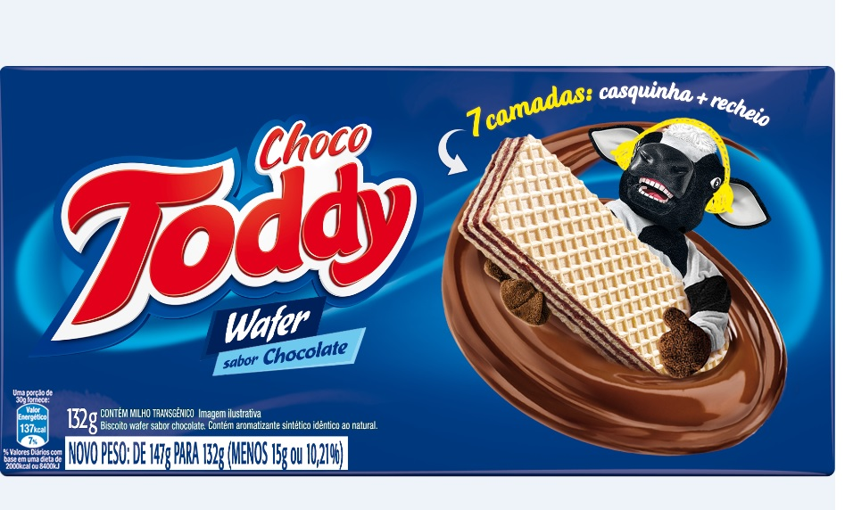 TODDY BISC WAFER CHOCOLATE 132GR CX/45