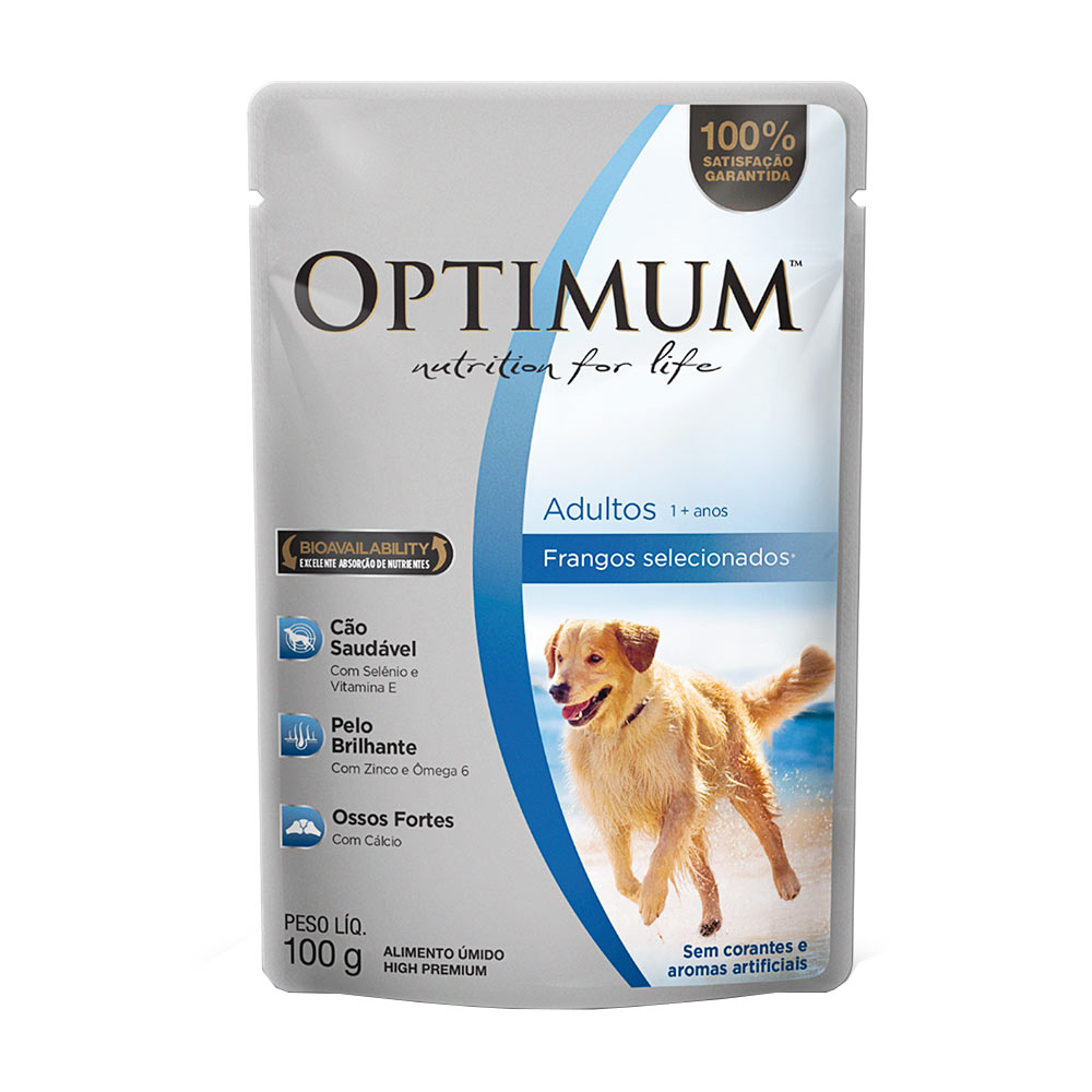 OPTIMUM DOG SC ADULTO FRANGO 2X18X100GR