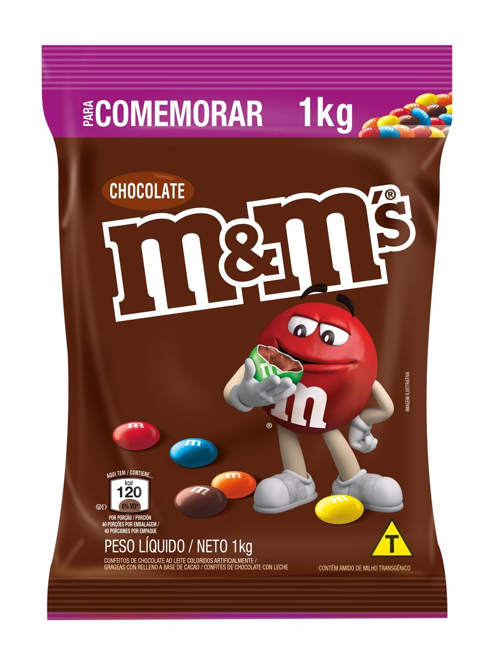 M&M S CHOCOLATE AO LEITE 1 KG CX/4