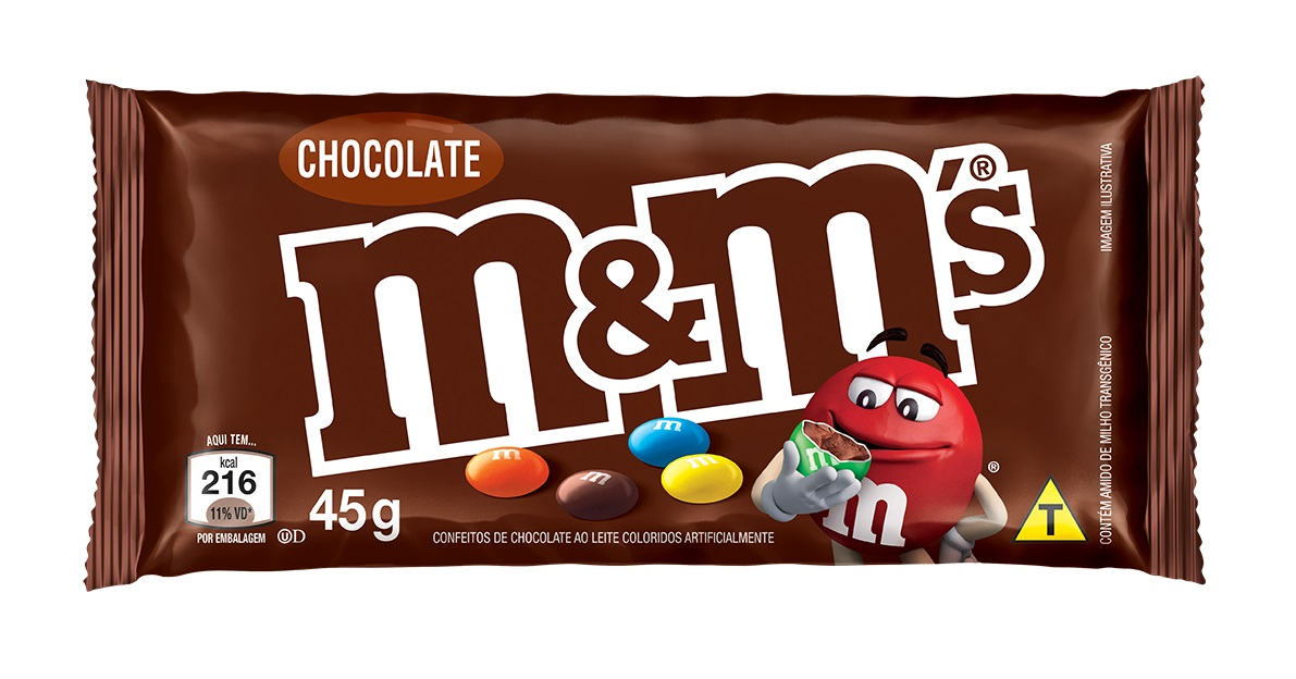 M&M S CHOCOLATE AO LEITE DP 18X45G CX/12