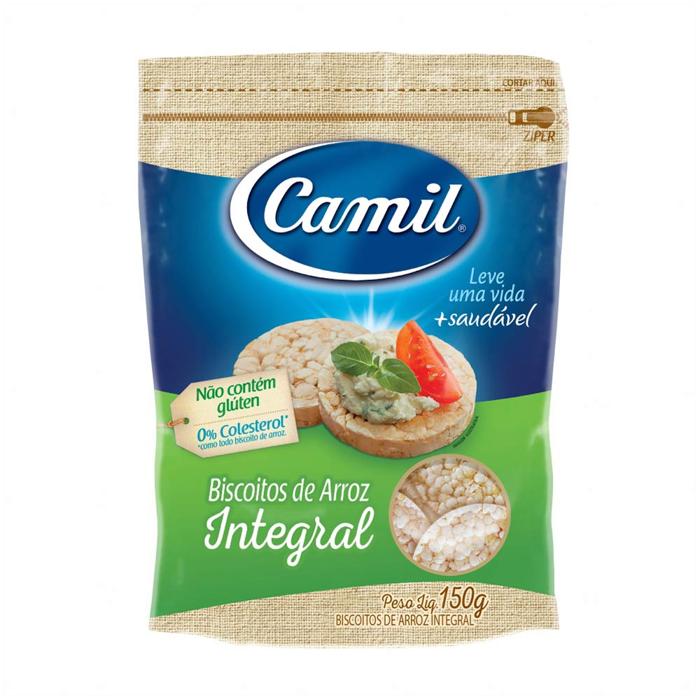 CAMIL BISC ARROZ INTEGRAL 150G CX/12