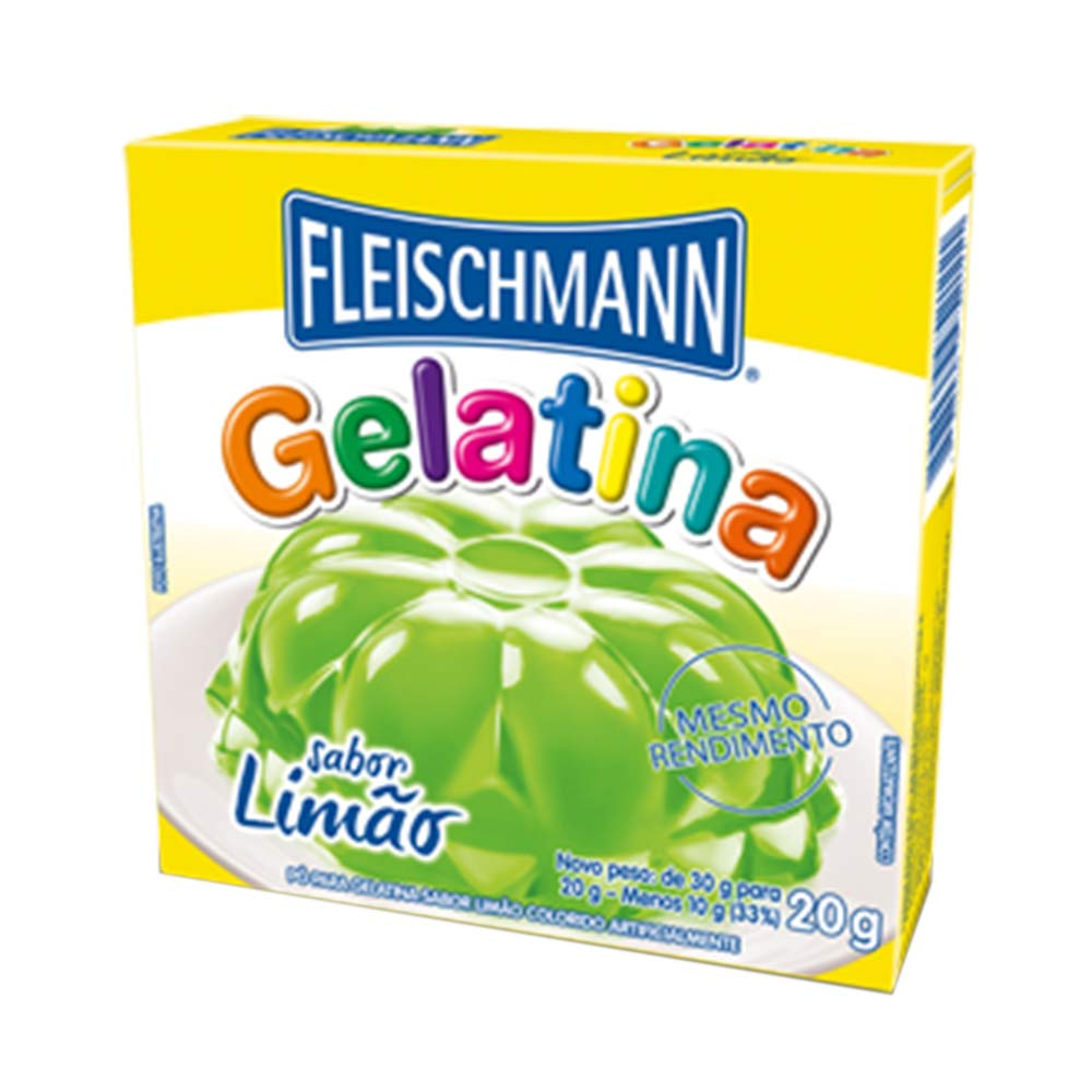 GELATINA LIMAO REGULAR 20GR CX/54