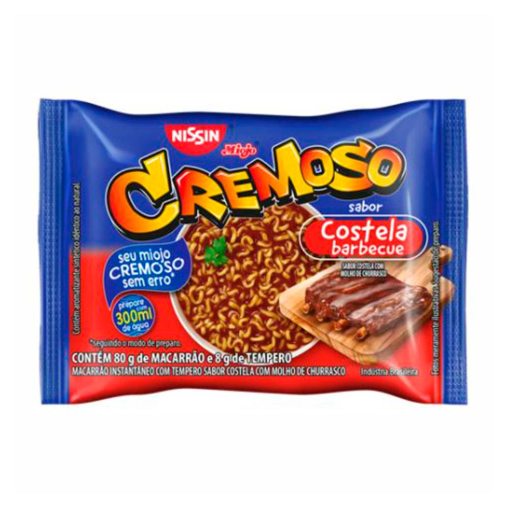 LAMEN CREMOSO COSTELA BARBECUE 88GR CX50