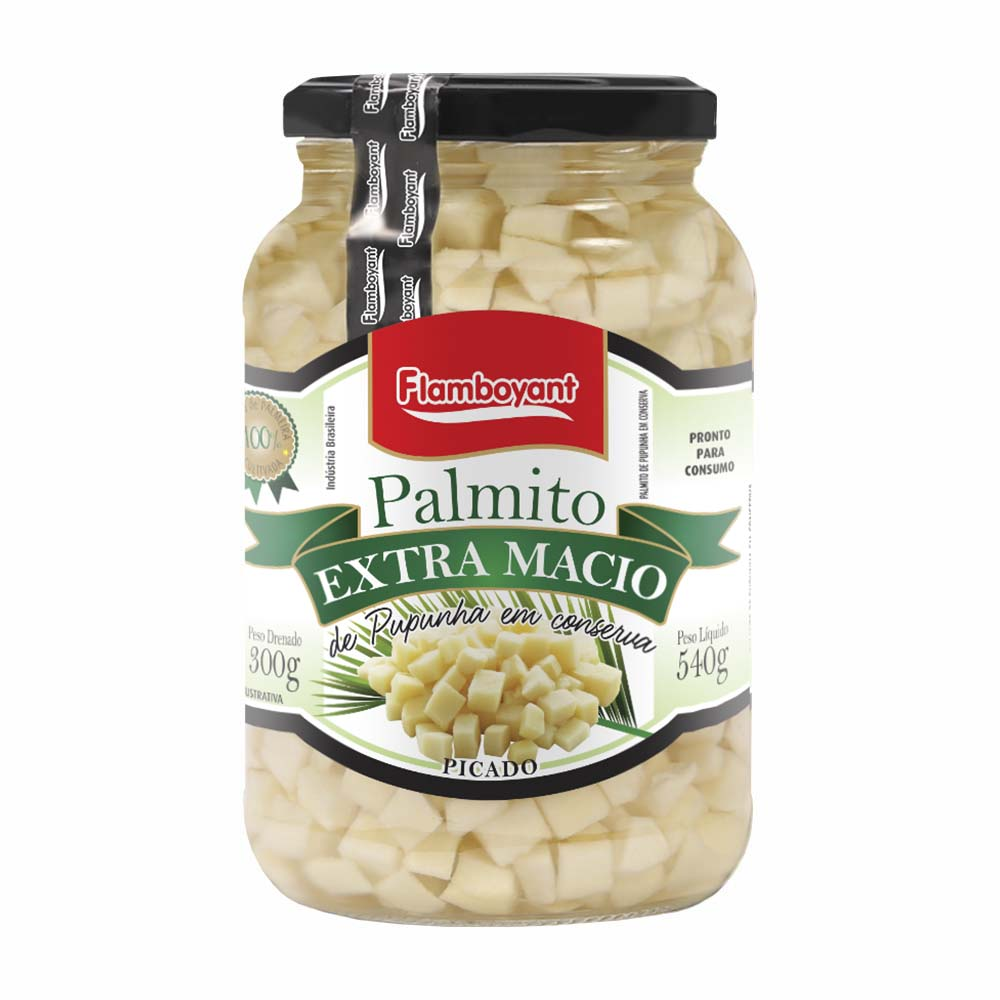FLAMB PALMITO PUPUNHA PICADO 300GR CX/15