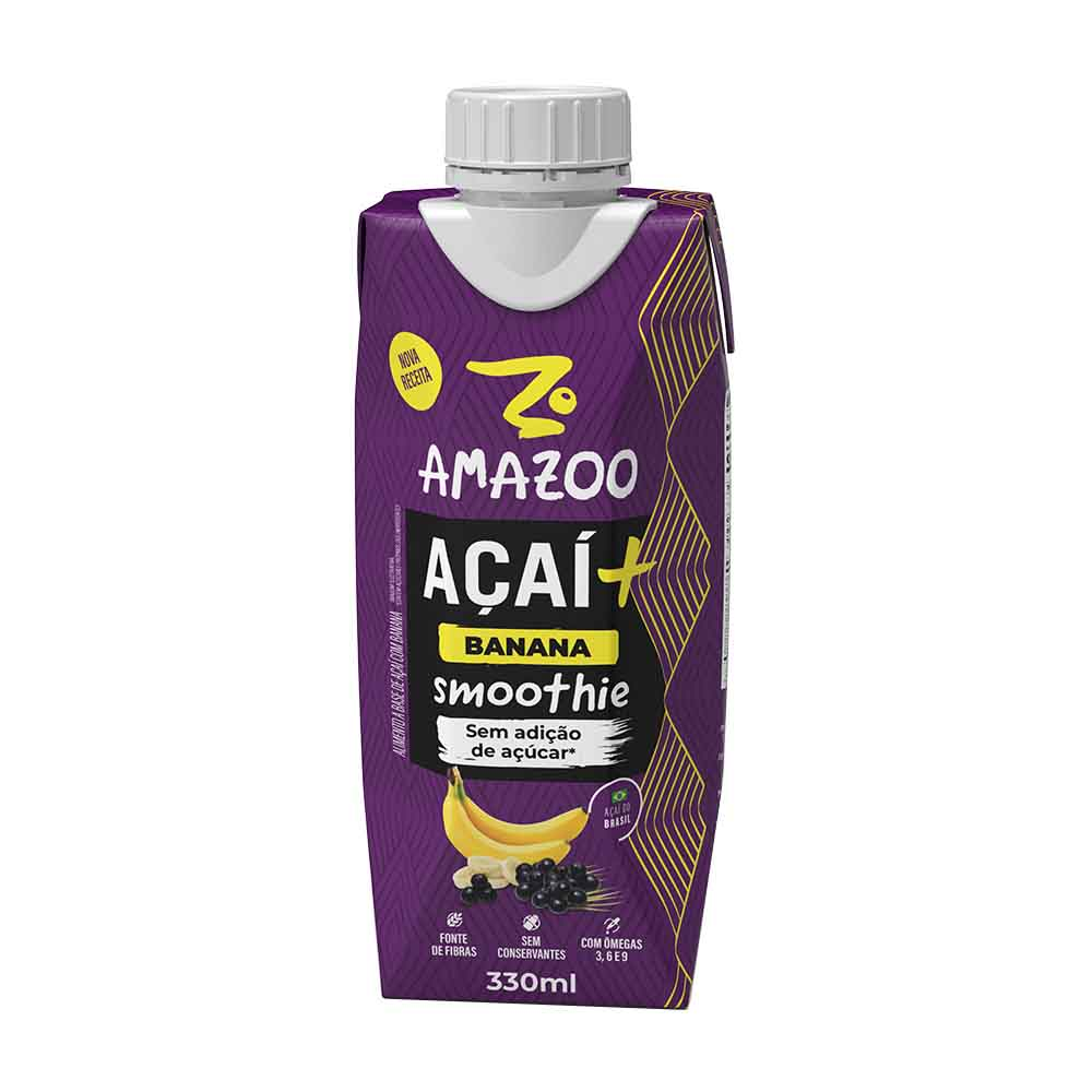 AMAZOO ACAI BANANA 330ML CX/12