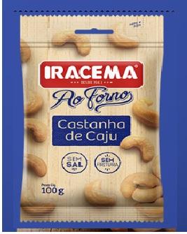 IRACEMA CAST. CAJU AO FORNO DP6X100G CX6