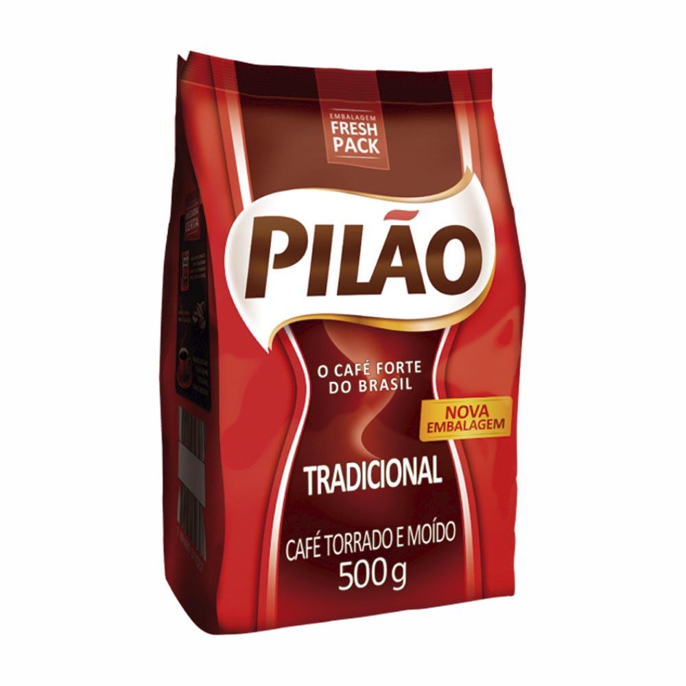 CAFE PILAO POUCH TRADICIONAL 500GR CX/12