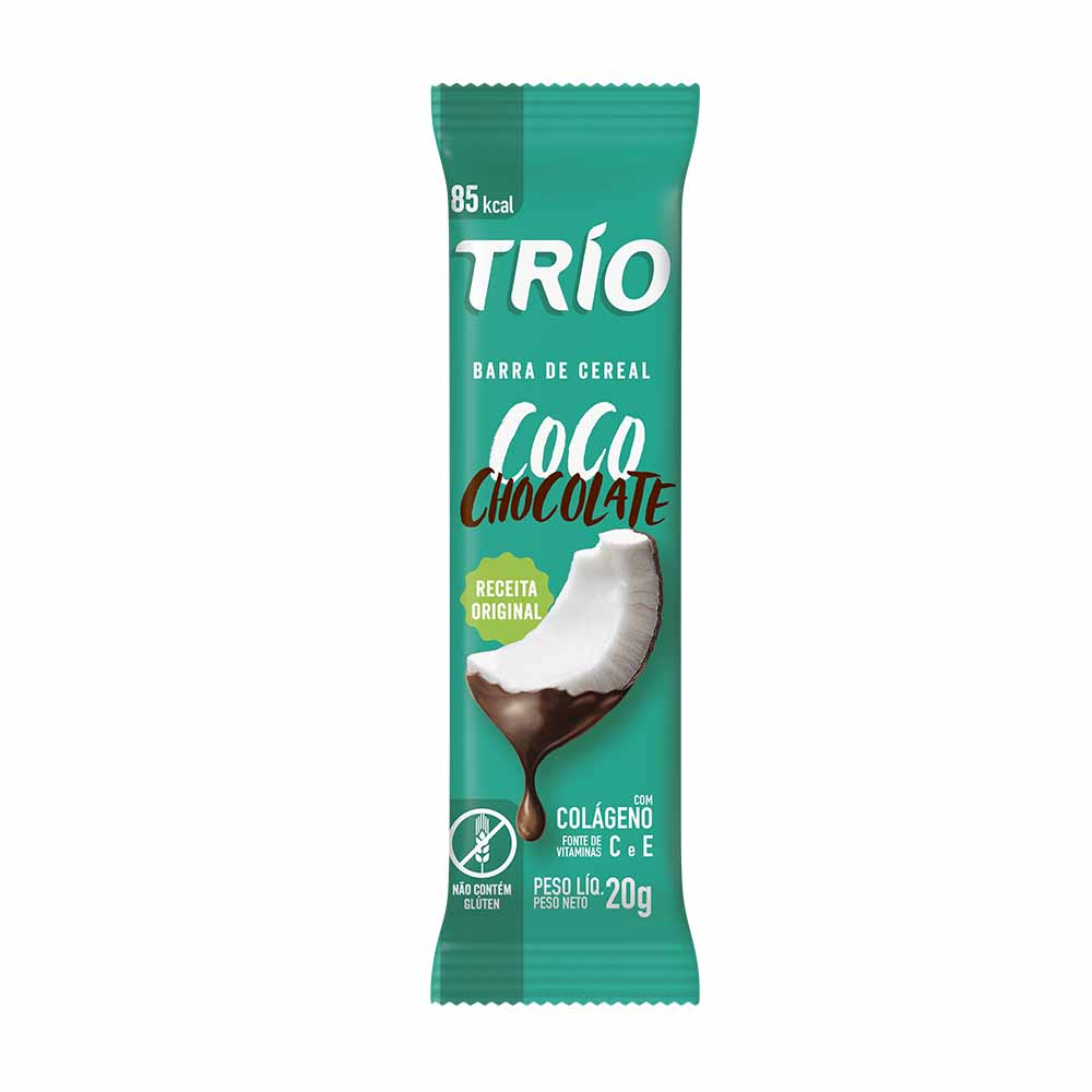 TRIO CEREAL BAR COCO C/ CHO 12X20GR CX12