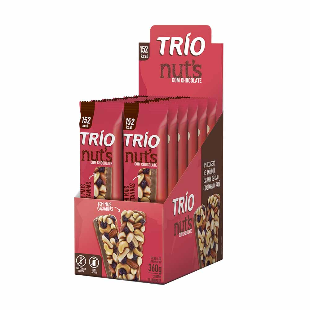 TRIO NUTS TRAD. C/ CHOCO  DP2X30G CX24