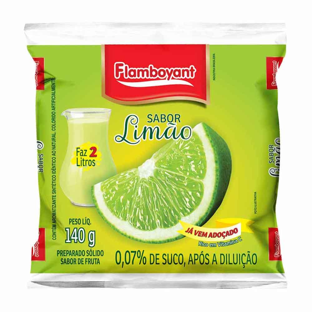 FLAMB REFRESCO LIMAO 140 GR CX/24