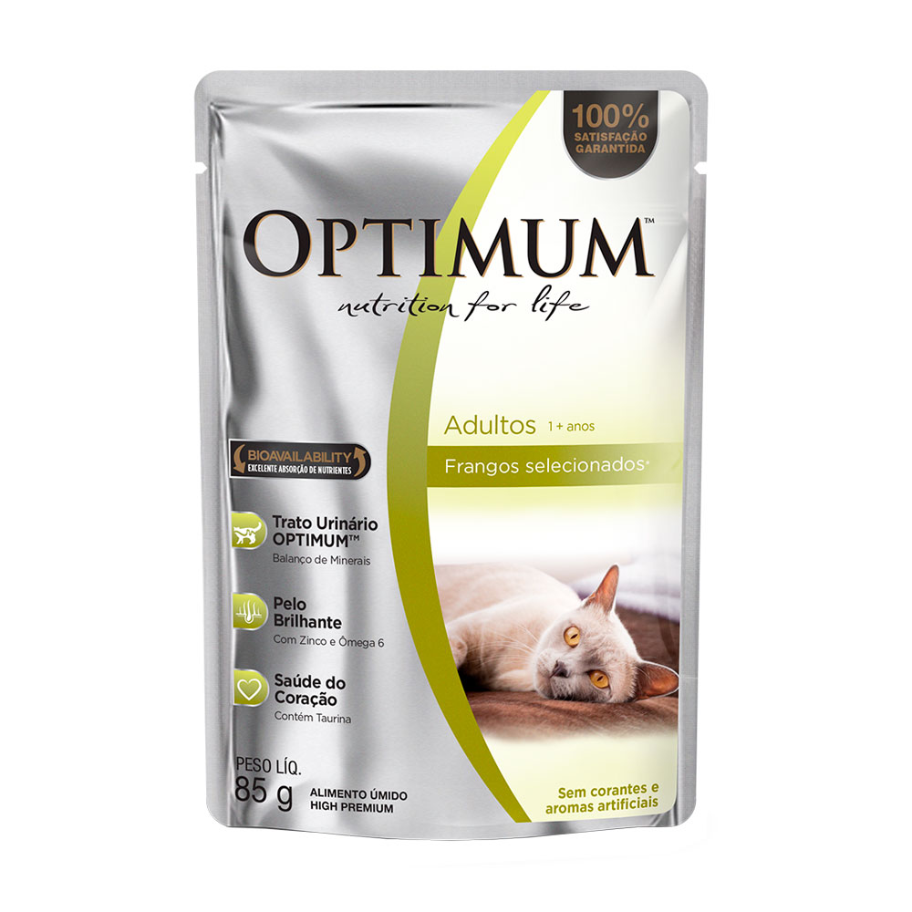 OPTIMUM CAT SC AD/ FRANGO 2X20X85GR