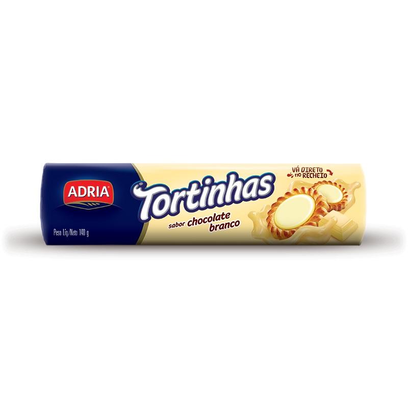 ADRIA TORTINHAS CHOC BRANC 140GR CX50