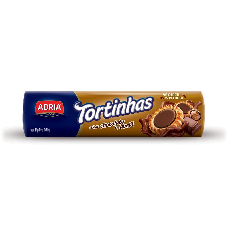 ADRIA TORTINHAS CHOC E AVELA 140GR CX50