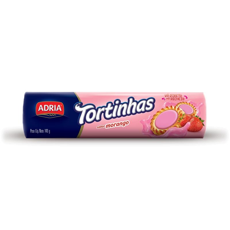 ADRIA TORTINHAS MORANGO 140GR CX50