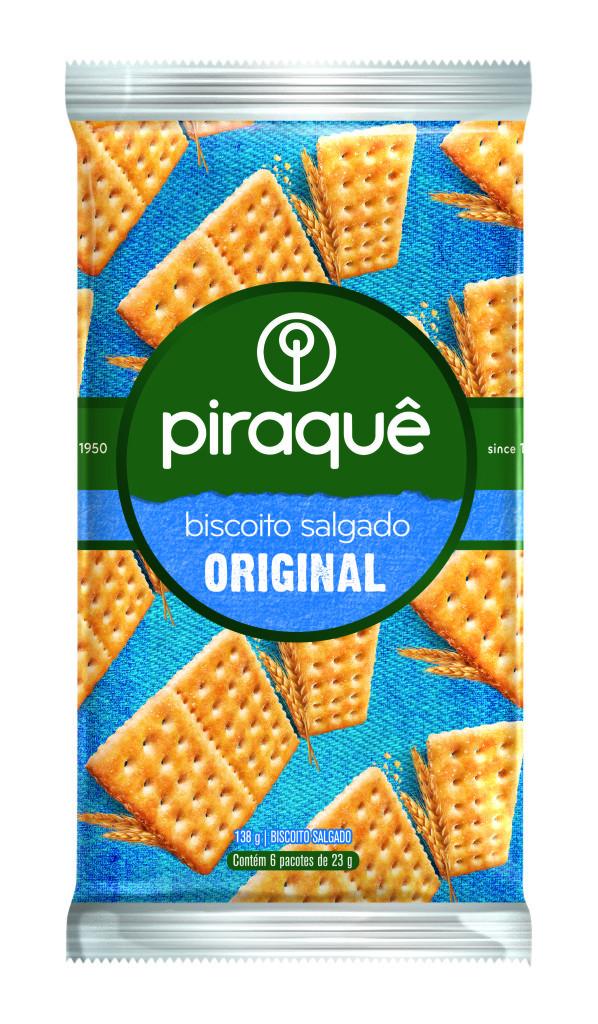 PIRAQUE BISCOITO SALGADO 138GR CX36