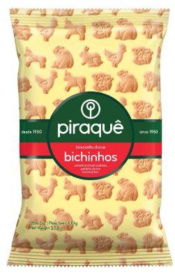 PIRAQUE BISCOITO BICHINHOS 100GR CX20